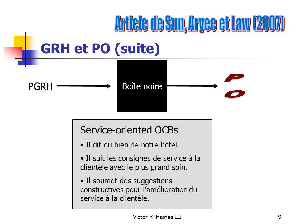 Article de Sun, Aryee et Law (2007)