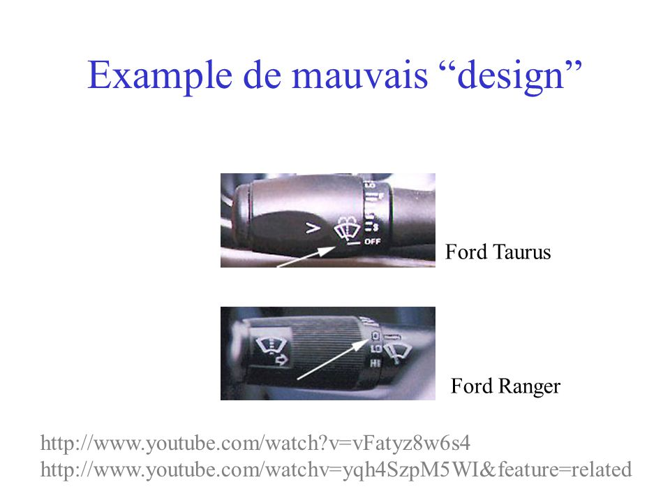 Example de mauvais design