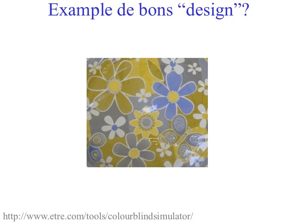 Example de bons design