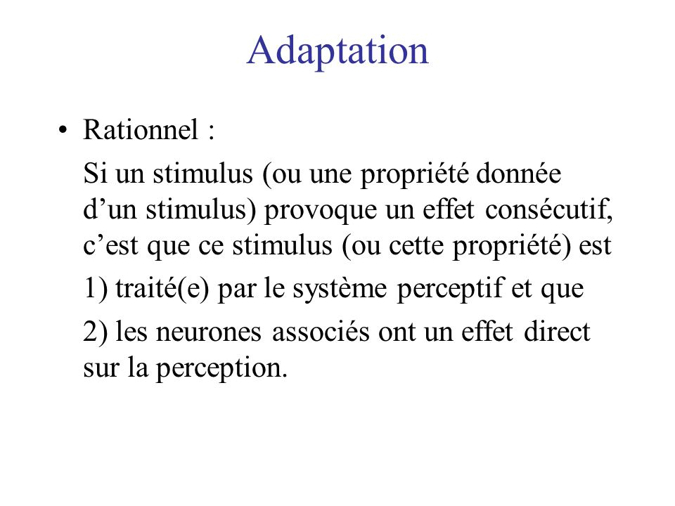 Adaptation Rationnel :