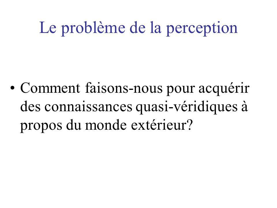 Le problème de la perception