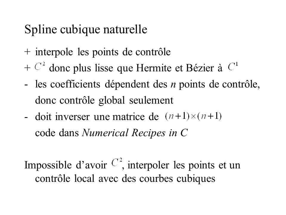 Spline cubique naturelle