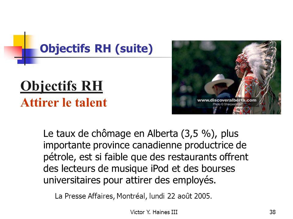 Objectifs RH Attirer le talent Objectifs RH (suite)