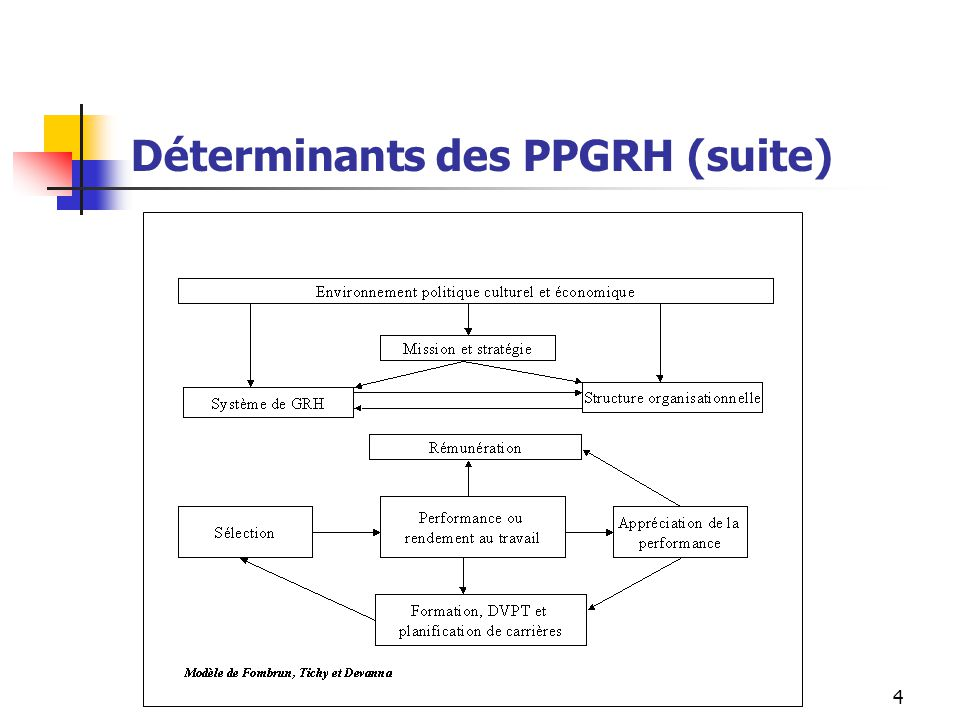 Déterminants des PPGRH (suite)