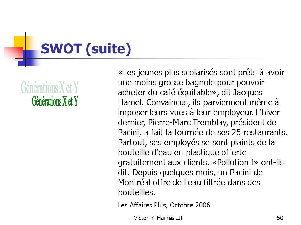 SWOT (suite)