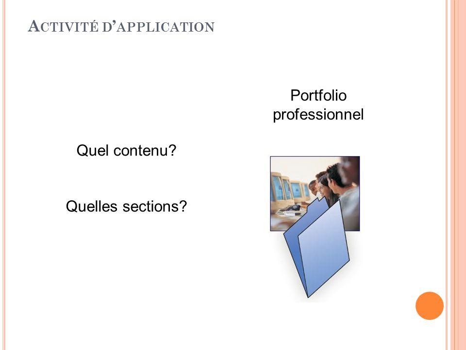 Activité d'application