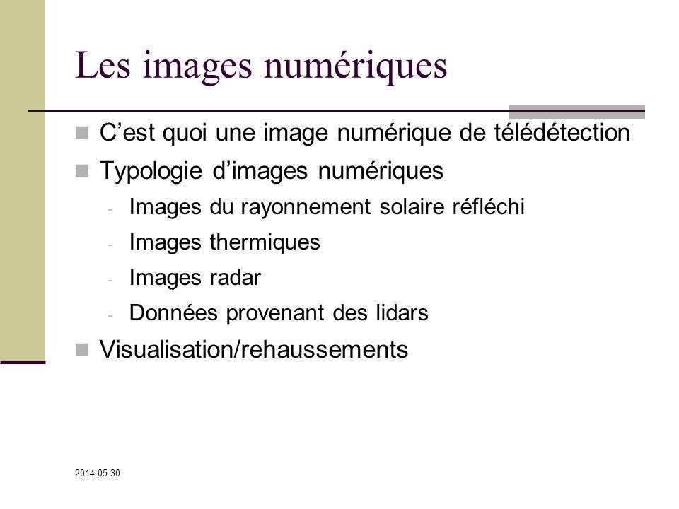 Les images numériques C'est quoi une image numérique de télédétection