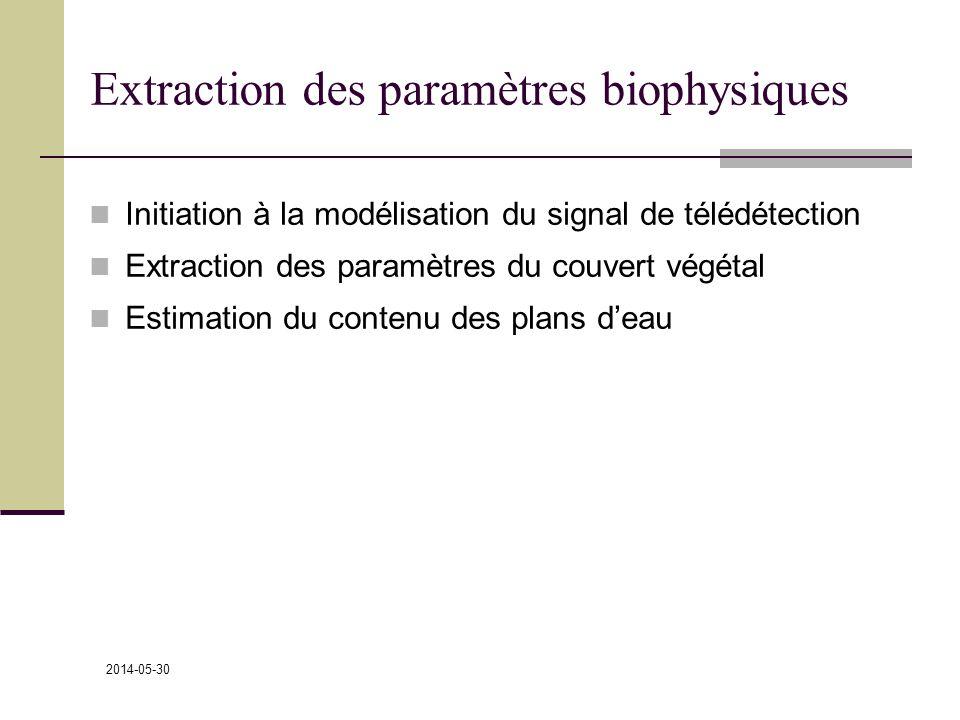 Extraction des paramètres biophysiques