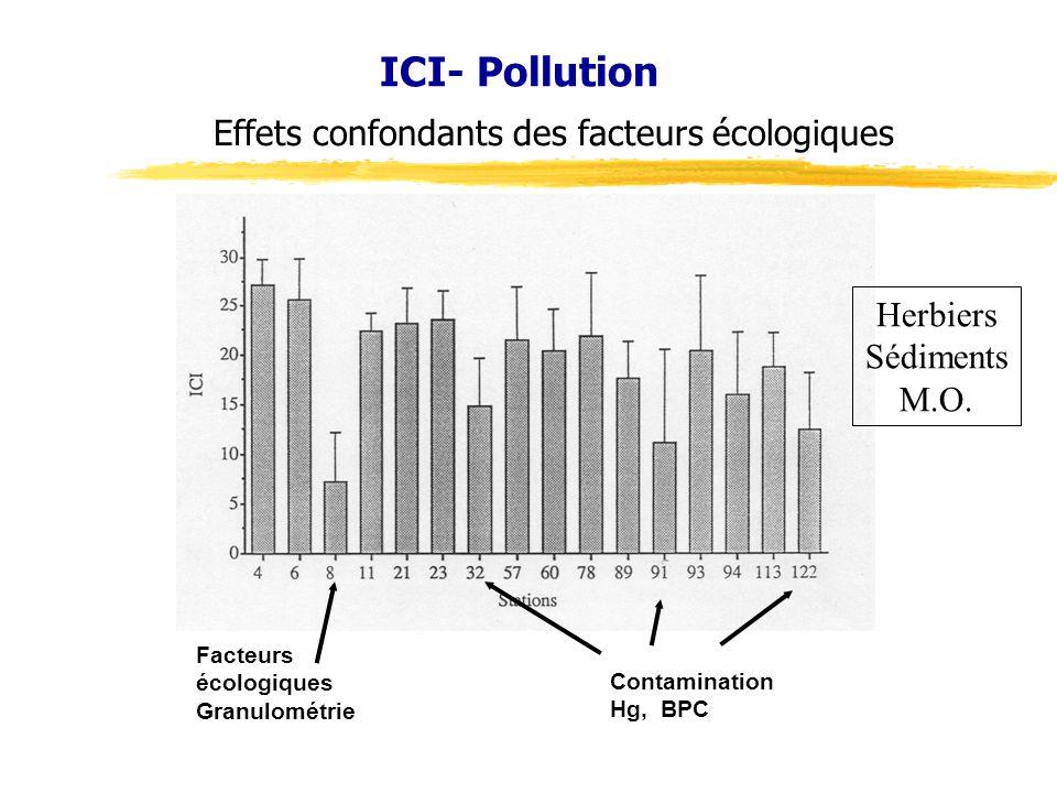 ICI- Pollution Effets confondants des facteurs écologiques Herbiers