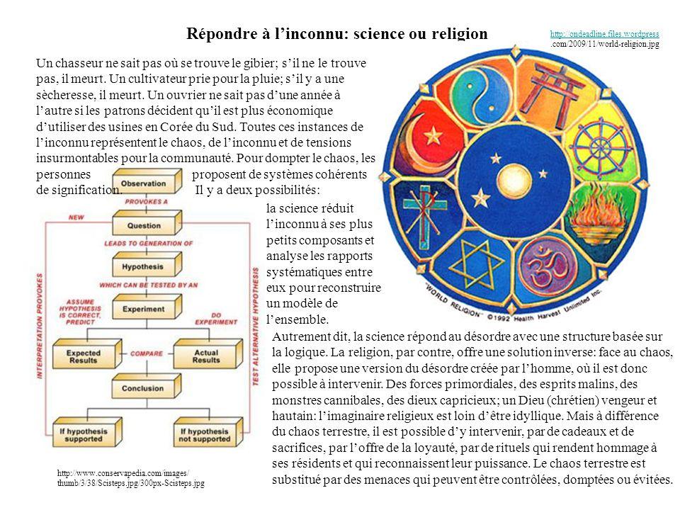 Répondre à l'inconnu: science ou religion