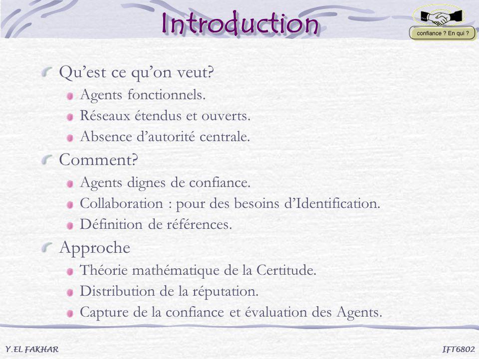 Introduction Qu'est ce qu'on veut Comment Approche