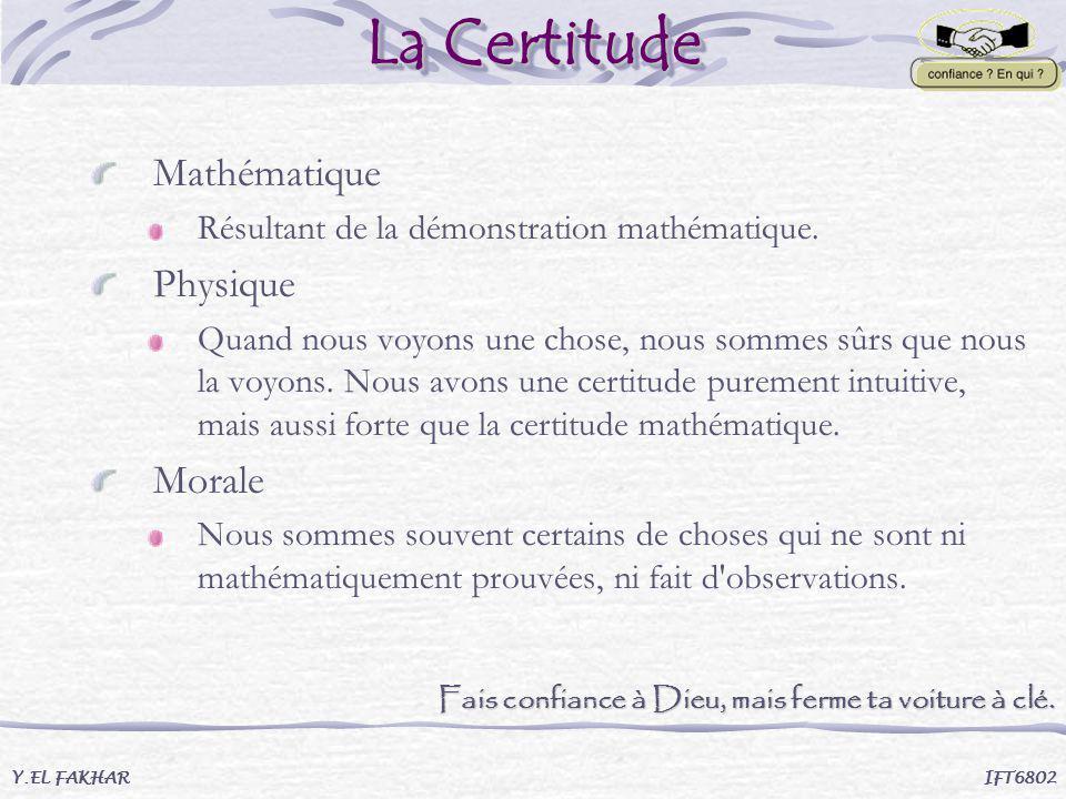 La Certitude Mathématique Physique Morale