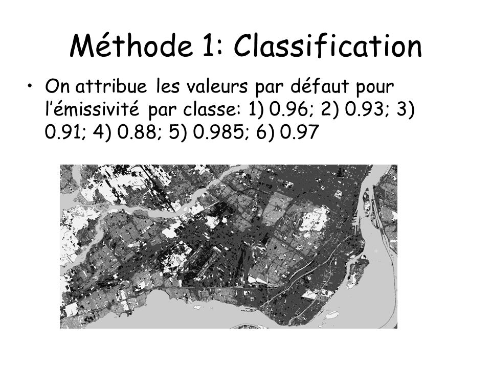 Méthode 1: Classification