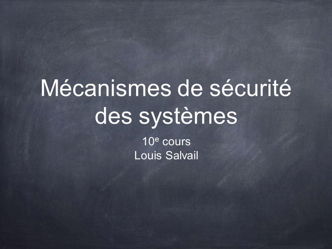 Mécanismes de sécurité des systèmes