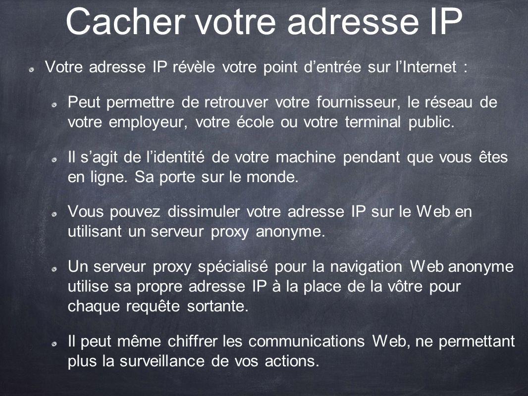 Cacher votre adresse IP