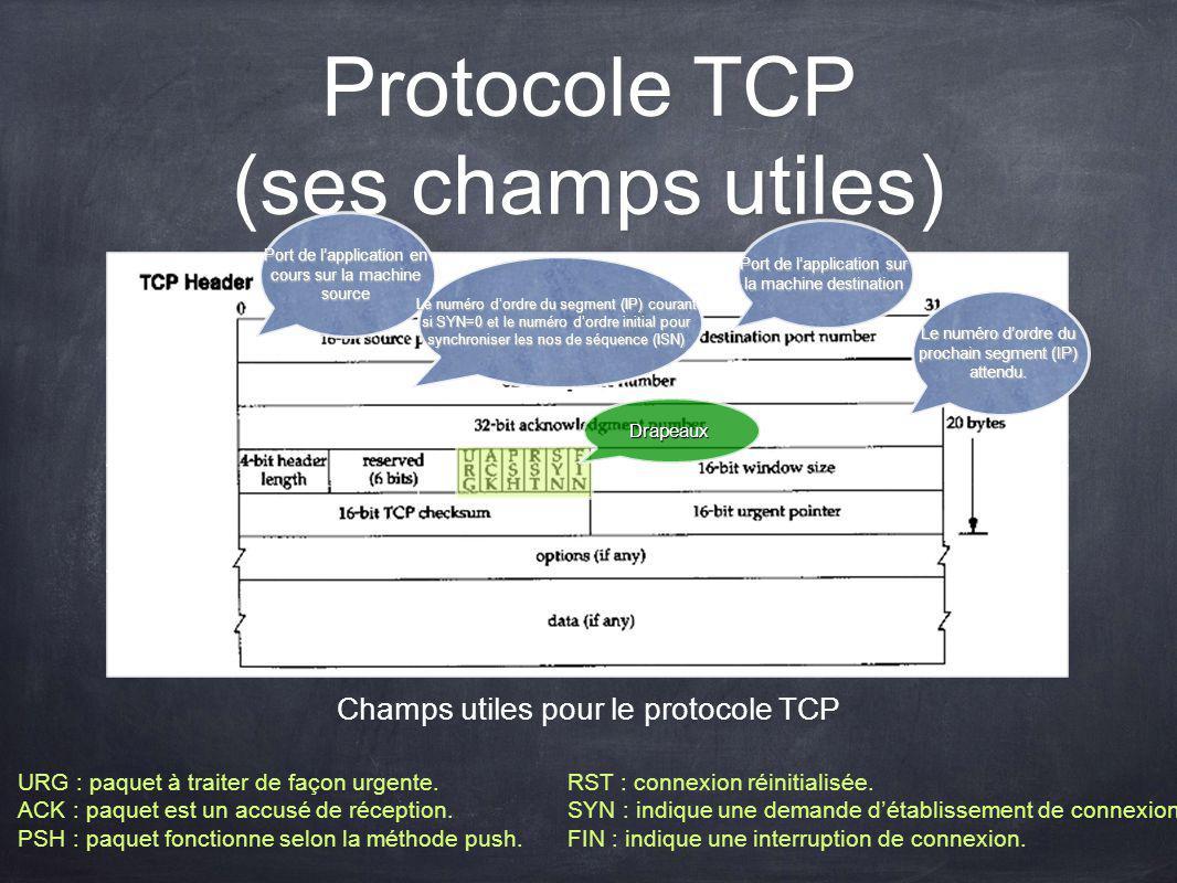 Protocole TCP (ses champs utiles)