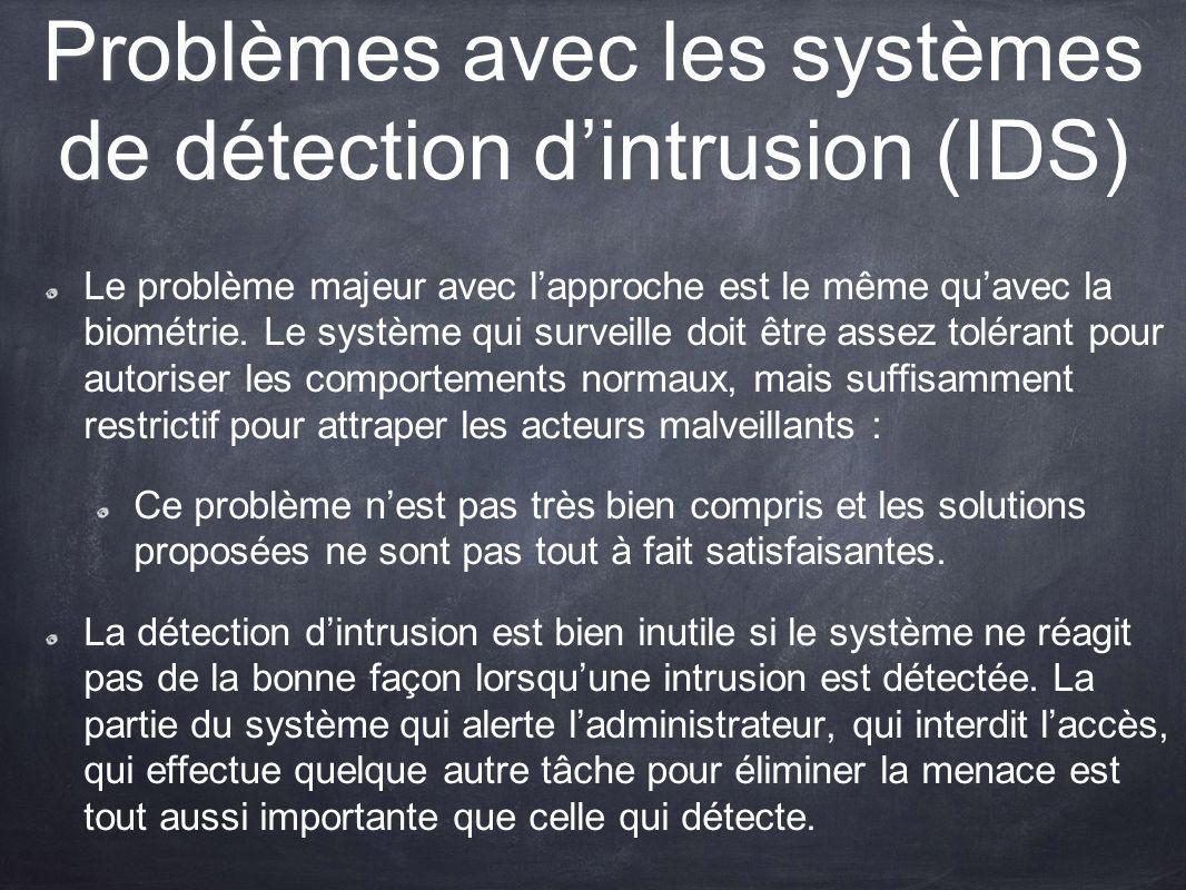 Problèmes avec les systèmes de détection d'intrusion (IDS)