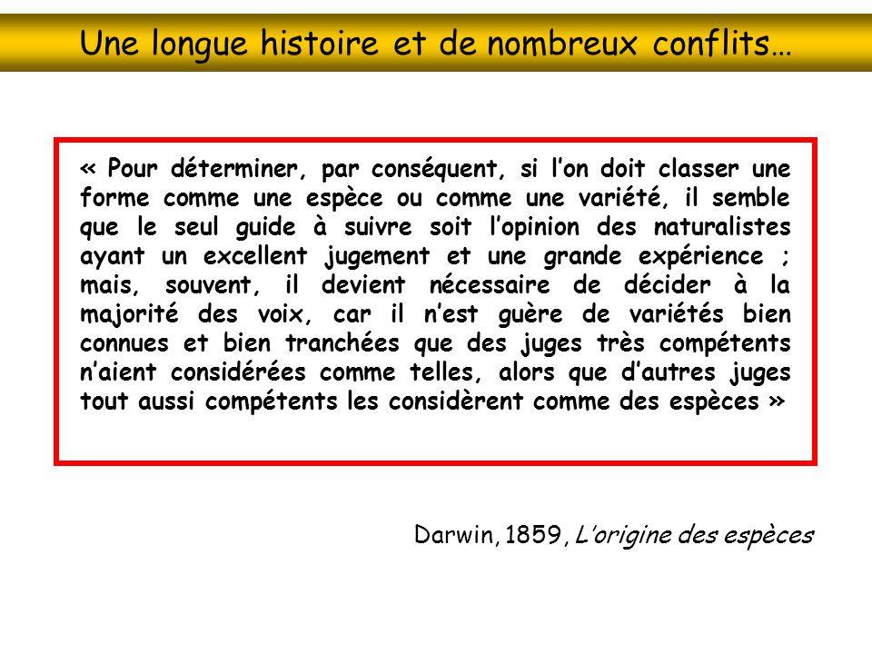 Une longue histoire et de nombreux conflits…