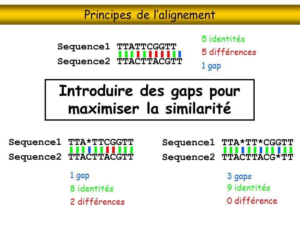 Principes de l'alignement