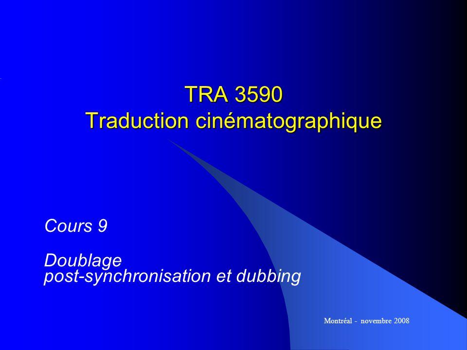 TRA 3590 Traduction cinématographique