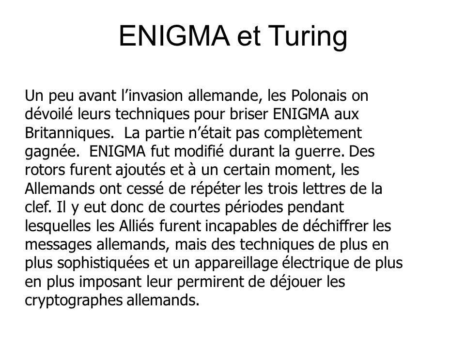 ENIGMA et Turing