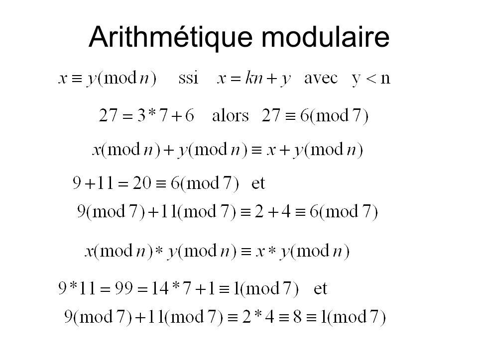 Arithmétique modulaire