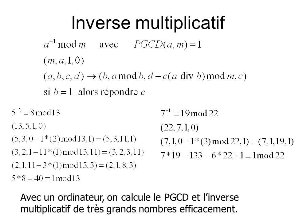 Inverse multiplicatif