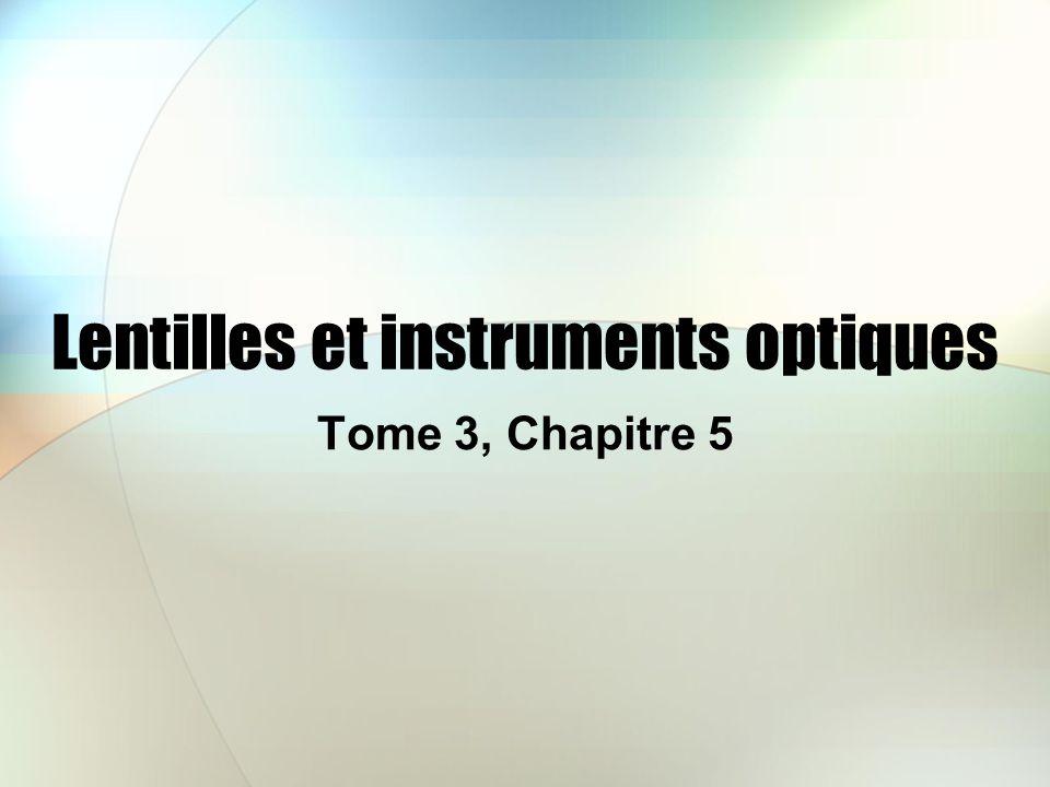 Lentilles et instruments optiques