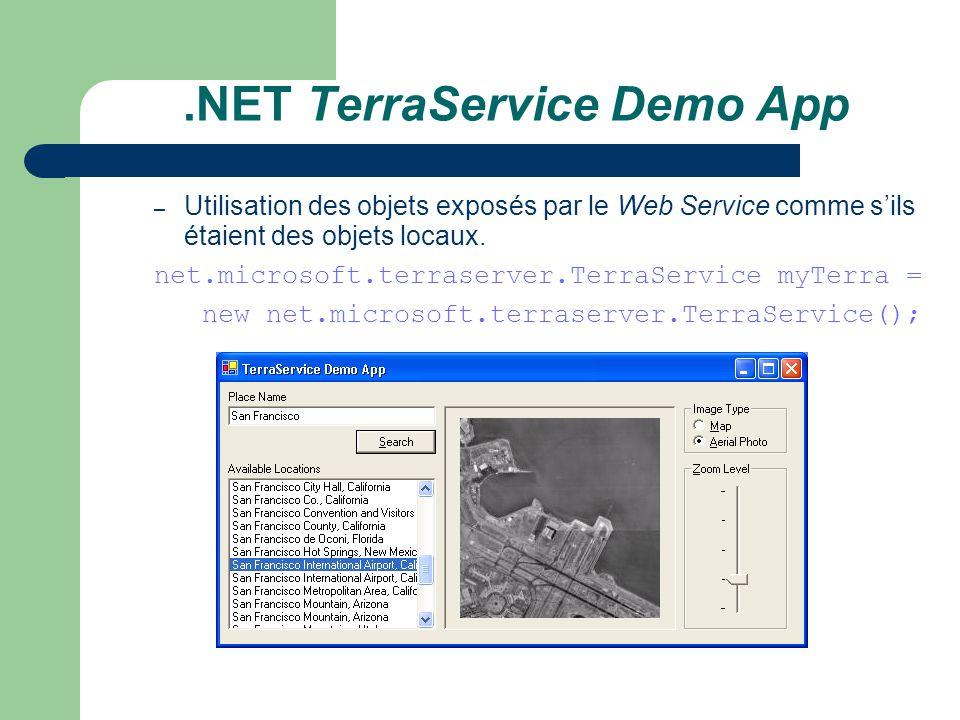 .NET TerraService Demo App