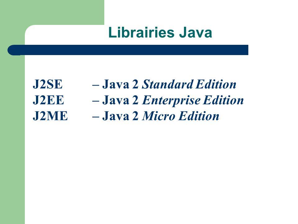 Librairies Java J2SE – Java 2 Standard Edition