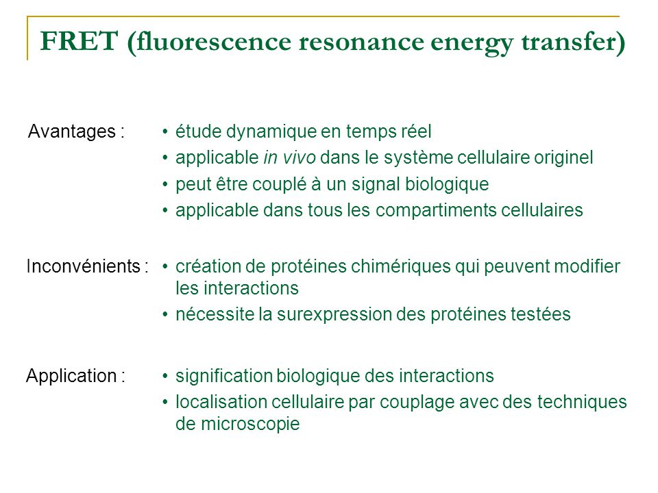 FRET (fluorescence resonance energy transfer)