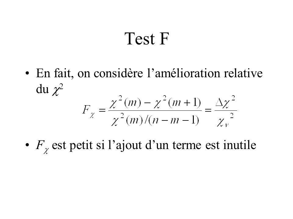 Test F En fait, on considère l'amélioration relative du c2