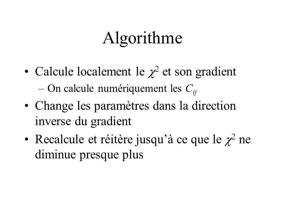 Algorithme Calcule localement le c2 et son gradient
