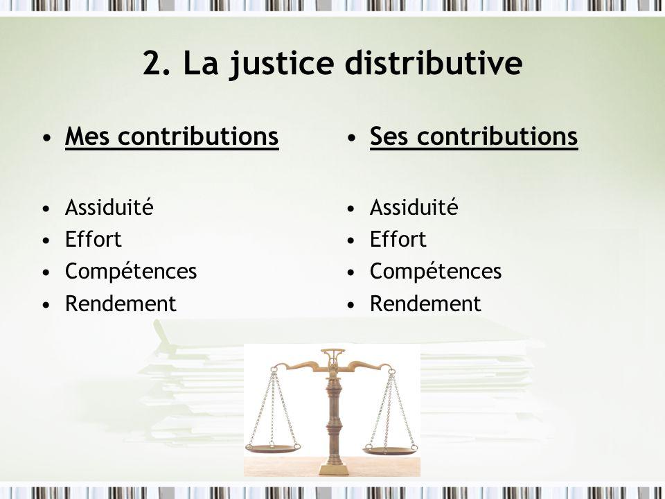 2. La justice distributive