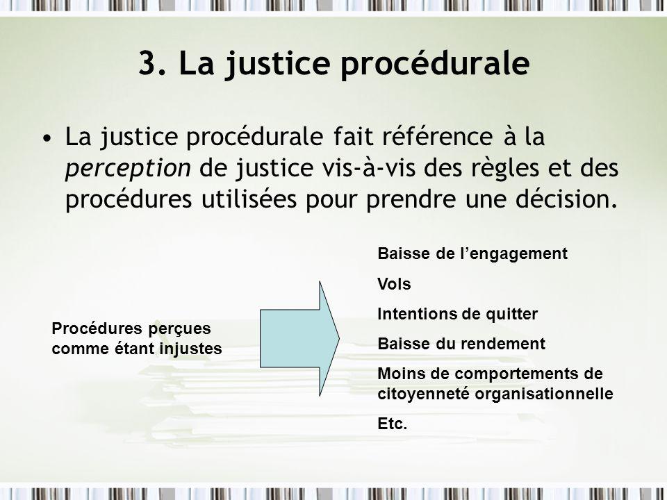3. La justice procédurale