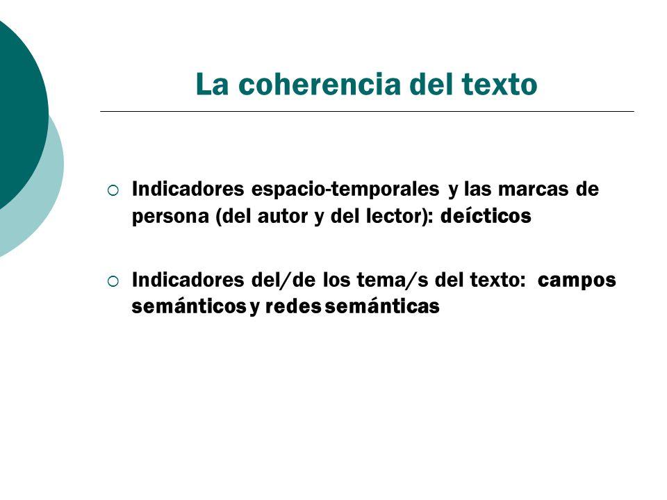 La coherencia del texto