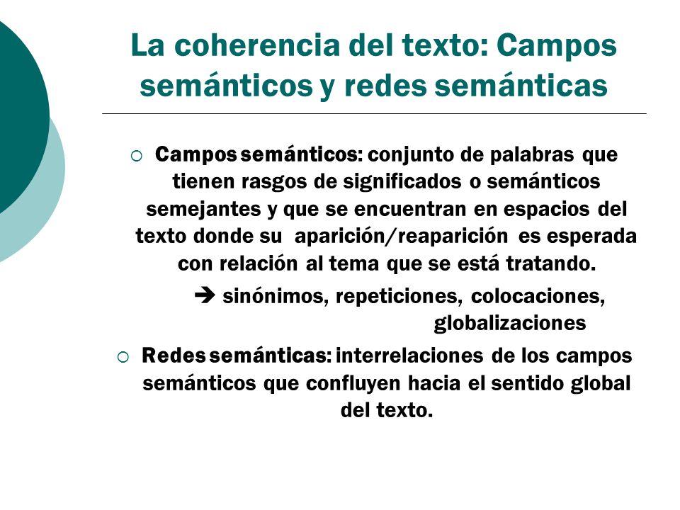 La coherencia del texto: Campos semánticos y redes semánticas