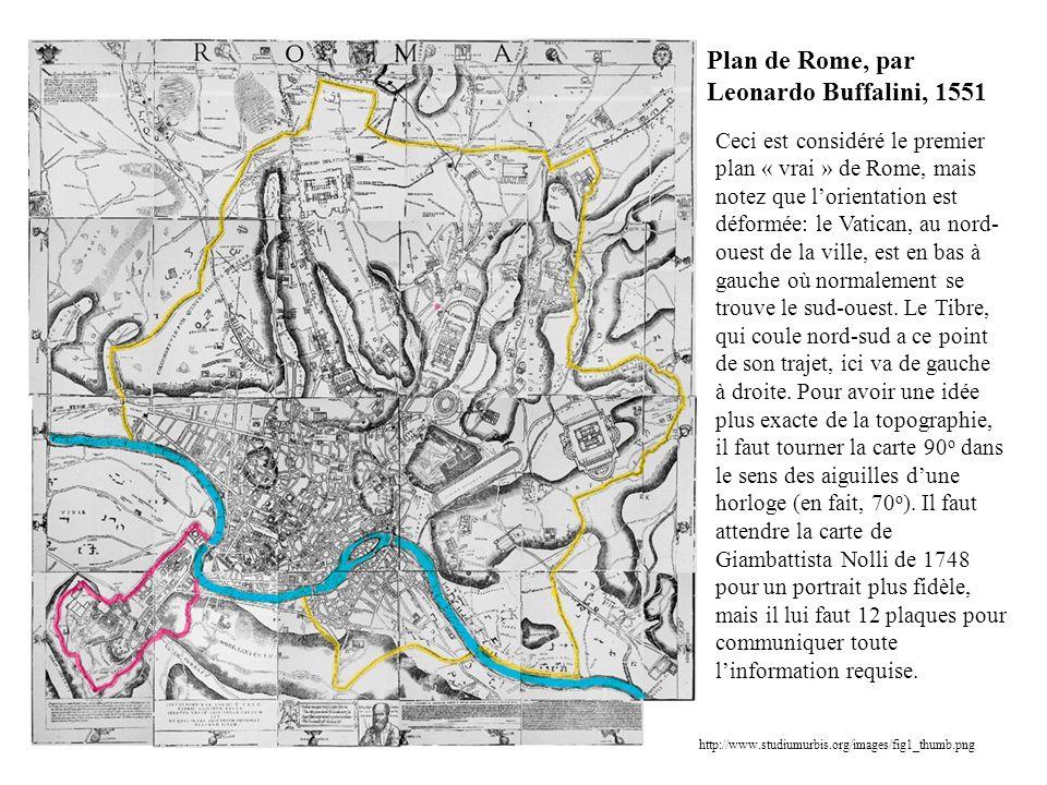 Plan de Rome, par Leonardo Buffalini, 1551