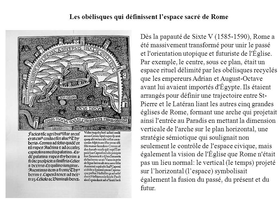 Les obélisques qui définissent l'espace sacré de Rome