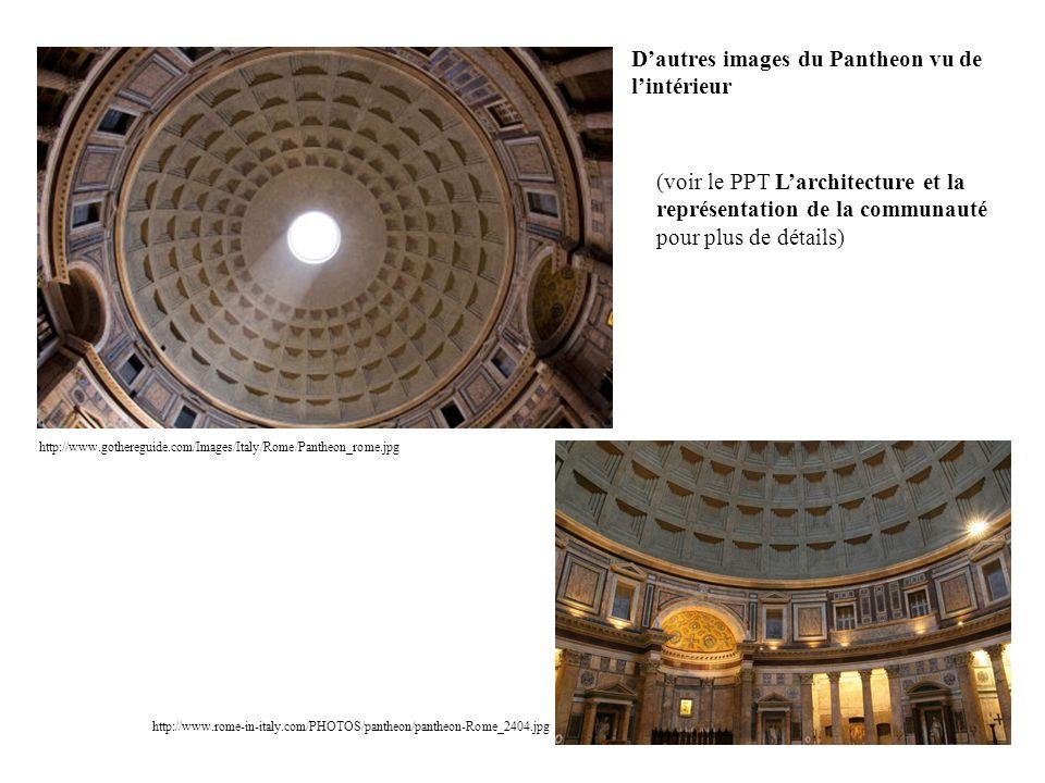 D'autres images du Pantheon vu de l'intérieur