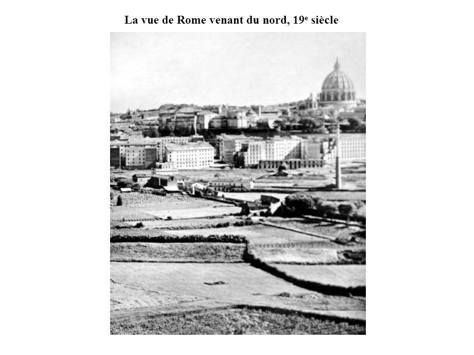 La vue de Rome venant du nord, 19e siècle