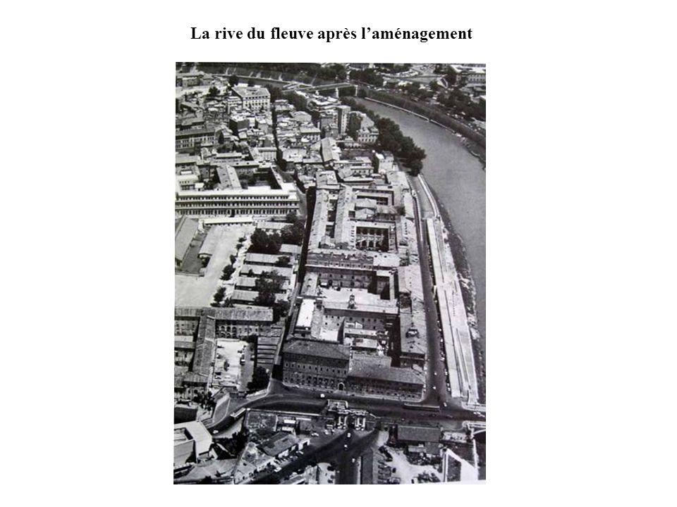 La rive du fleuve après l'aménagement