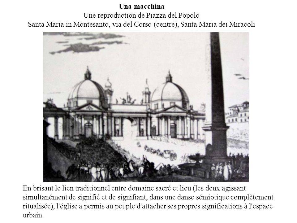 Una macchina Une reproduction de Piazza del Popolo Santa Maria in Montesanto, via del Corso (centre), Santa Maria dei Miracoli