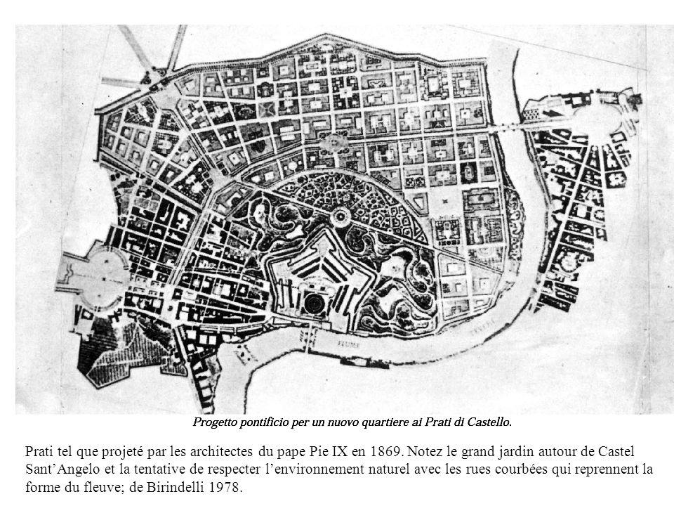 Prati tel que projeté par les architectes du pape Pie IX en 1869