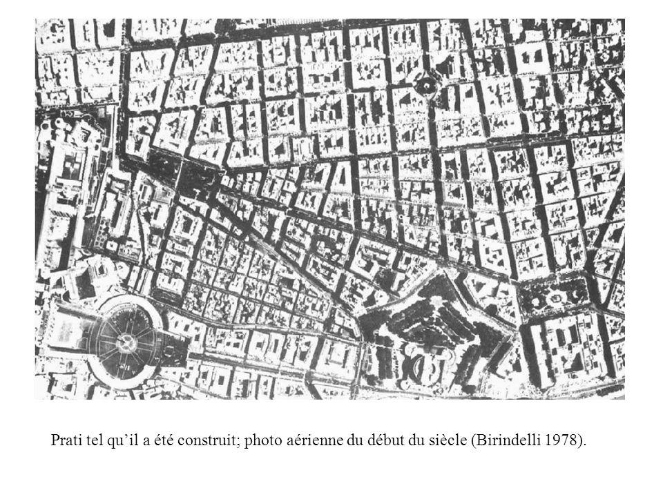 Prati tel qu'il a été construit; photo aérienne du début du siècle (Birindelli 1978).