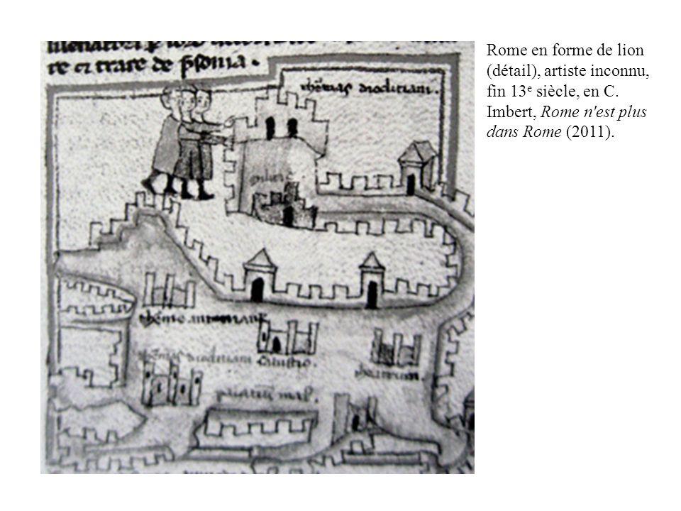 Rome en forme de lion (détail), artiste inconnu, fin 13e siècle, en C