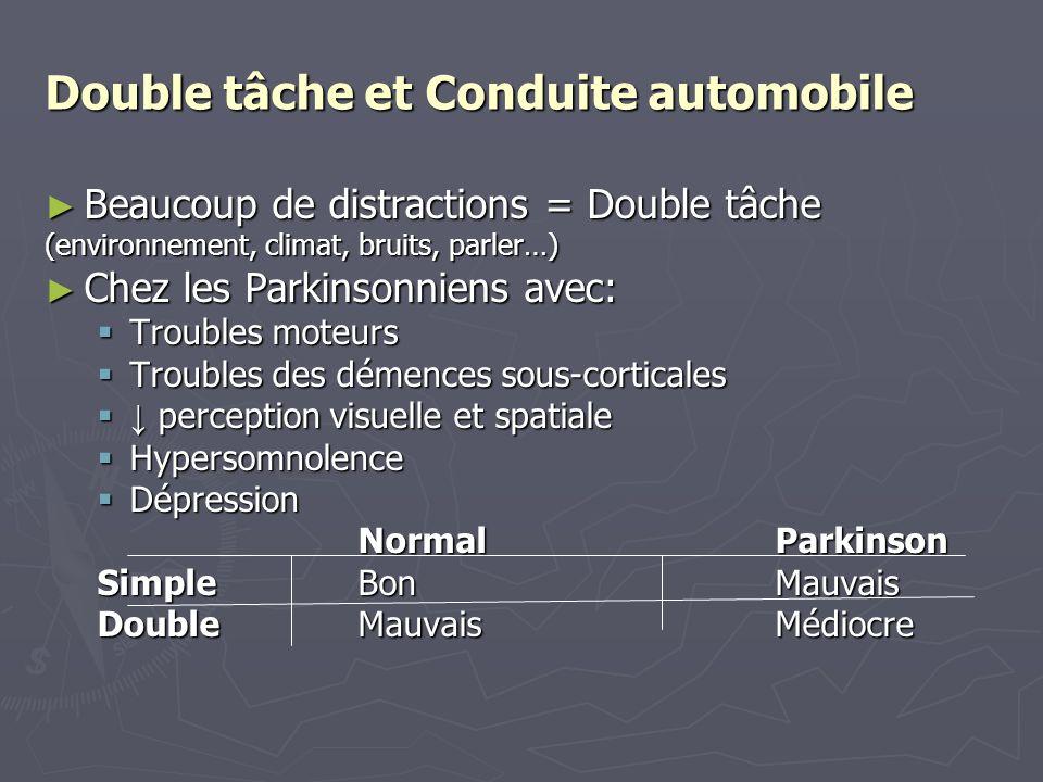 Double tâche et Conduite automobile