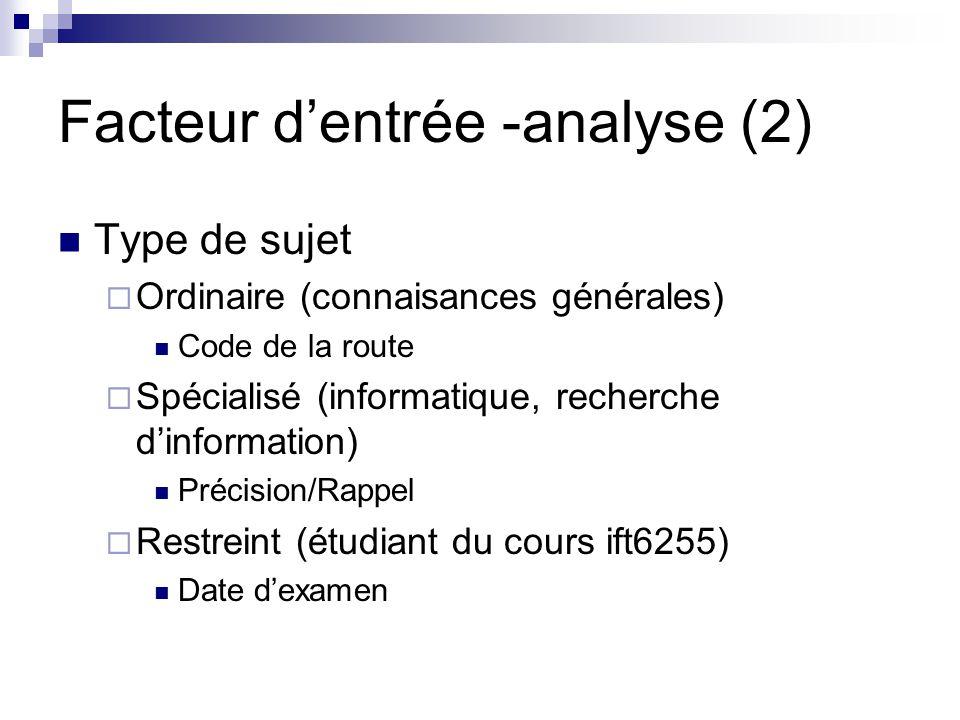Facteur d'entrée -analyse (2)