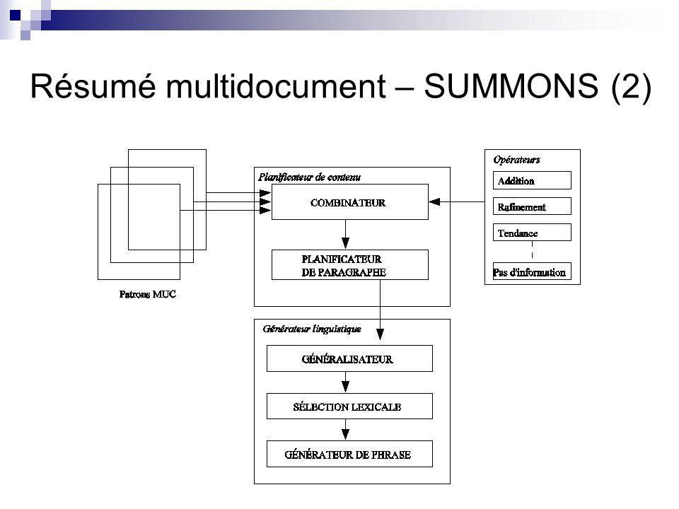 Résumé multidocument – SUMMONS (2)