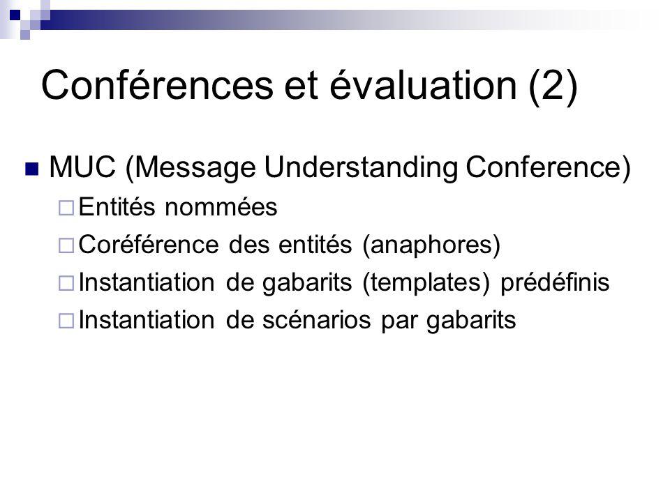 Conférences et évaluation (2)